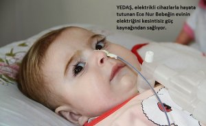 YEDAŞ`tan SMA hastası bebeğe güç