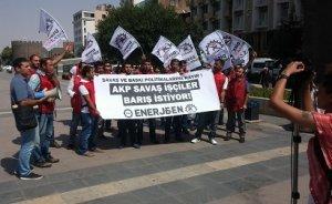 Enerji işçilerinden Diyarbakır'dan barışa destek
