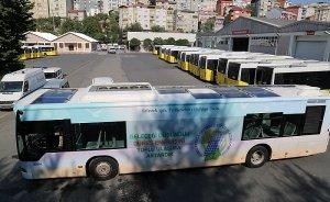 İstanbul`da güneş enerjili belediye otobüsü!