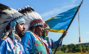 Kızılderililerden Dakota petrol boru hattı protestosu