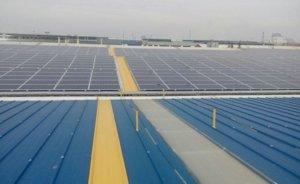 Kayseri'de kurulan 2.3 MW'lik çatı tipi GES devrede