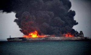 Güney Kore'ye İran petrolü taşıyan gemi 4 gündür yanıyor!