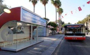 Antalya'da güneş enerjili klimalı durakların ikincisi açıldı