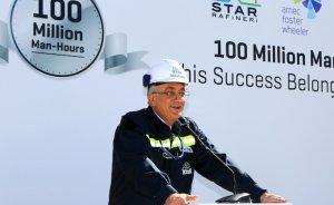 Star Rafineri inşaatında 100 milyon adam-saat
