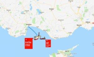 Fatih gemisi, sondaj noktasına ulaştı