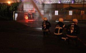 Bolu'da doğal gaz tesisinde yangın çıktı