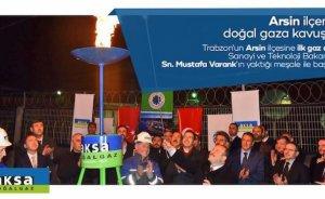 Trabzon'un Arsin ilçesine doğalgaz ulaştı