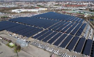 Fransa'da 16,3 MW'lık otopark güneş santrali açıldı