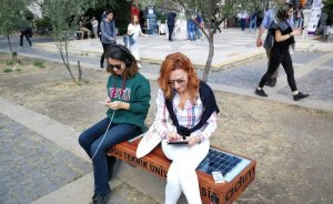 ODTÜ Ankara yerleşkesinde güneş enerjili şarj üniteli banklar kuruldu