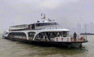 Çin'in ilk elektrikli yolcu gemisi seferde