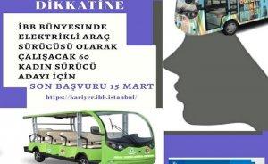Adalar'ın elektrikleri araçları için 60 kadın şoför alınacak