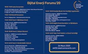 Dijital Enerji Forumu'20 başlıyor!
