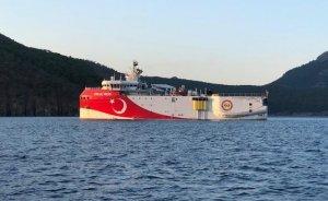 Oruç Reis Akdeniz'deki yeni görev alanına ulaştı
