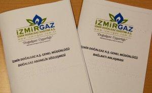 İzmir'de körlere özel doğalgaz hizmeti