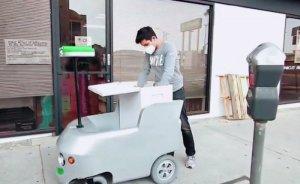 Market alışverişlerinde uzaktan kumandalı elektrikli araçla teslimat dönemi