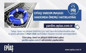 EPİAŞ Yardım Masası tek bir e-posta ile hizmet verecek