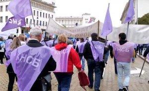 Bulgar kömür işçileri işleri için yürüdü