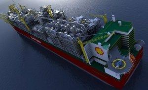 Shell'in dev yüzer LNG tesisi denize indirildi