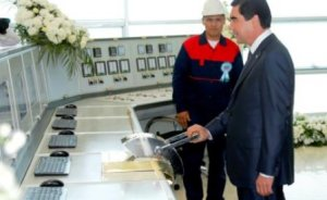 Çalık Enerji'nin Türkmenistan`da kurduğu santral açıldı
