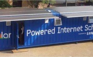 Samsung`tan güneş enerjili internet sınıfı denemesi...