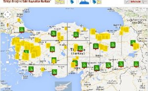 Türkiye`nin interaktif enerji haritası doğuyor